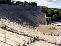 Detalle del teatro antiguo de Epidaurus en Grecia Fotografía de archivo