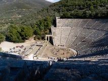 Detalle del teatro antiguo de Epidaurus en Grecia Fotos de archivo