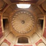 Detalle del techo de la tumba de Humayun en Delhi Imágenes de archivo libres de regalías