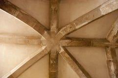 Detalle del techo en el castillo de Lulworth fotografía de archivo libre de regalías
