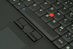 Detalle del teclado de la computadora portátil foto de archivo libre de regalías