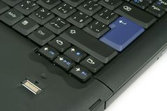 Detalle del teclado de la computadora portátil imagenes de archivo