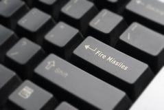 Detalle del teclado de los misiles del fuego Imagen de archivo libre de regalías
