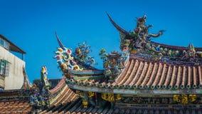 Detalle del tejado del templo BO-Uno Imagen de archivo libre de regalías