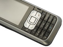 Detalle del teléfono móvil Foto de archivo libre de regalías