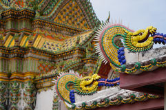 Detalle del templo budista de Wat Po Imagen de archivo