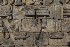 Detalle del templo de Borobudur en Java central en Indonesia Imágenes de archivo libres de regalías
