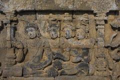 Detalle del templo de Borobudur en Java central en Indonesia Fotos de archivo libres de regalías