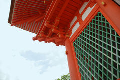 Detalle del templo de Kiyomizudera Imágenes de archivo libres de regalías