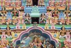 Detalle del templo hindú en Singapur Foto de archivo libre de regalías