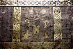 Detalle del tronco de Christian Relic Silver y del oro Imágenes de archivo libres de regalías