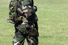 Detalle del uniforme militar Imagen de archivo libre de regalías