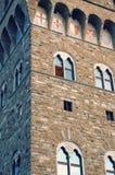 Detalle del vecchio del palazzo en Florencia Foto de archivo libre de regalías