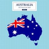 Detalle del vector de la bandera del mapa de Australia alto libre illustration
