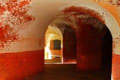 Detalle del vestíbulo del túnel del punto del fuerte Imágenes de archivo libres de regalías