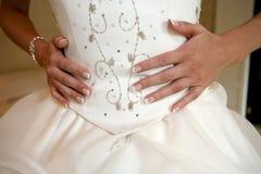 Detalle del vestido foto de archivo