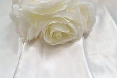 Detalle 3 del vestido de boda Imagenes de archivo