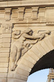 Detalle del viaduc de Passy, París Imagenes de archivo