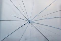 Detalle del vidrio quebrado Imagenes de archivo