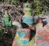 Detalle del watertanker aherrumbrado Imagenes de archivo
