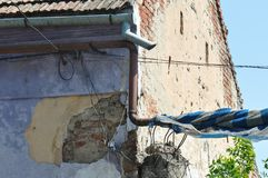 Detalle deteriorado de la casa Imagen de archivo