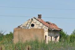 Detalle deteriorado de la casa Imagen de archivo libre de regalías