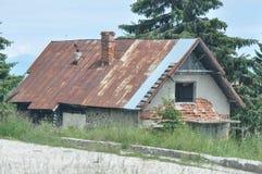 Detalle deteriorado de la casa Fotos de archivo