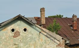 Detalle deteriorado de la casa Fotografía de archivo libre de regalías