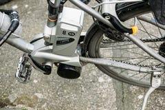 Detalle eléctrico del motor de la bici Fotos de archivo libres de regalías