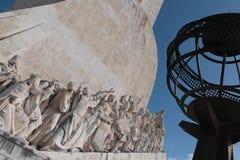 detalle el monumento a los descubrimientos Foto de archivo