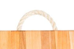 Detalle en el árbol Modelo natural ligero de la madera Fondo de madera del grano Tabla de cortar de madera de la manija de la cue Imágenes de archivo libres de regalías