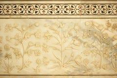 Detalle en el Taj Mahal Imagen de archivo libre de regalías
