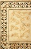 Detalle en el Taj Mahal Imagen de archivo