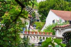 Detalle en jardín del castillo en Praga Foto de archivo libre de regalías