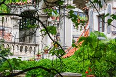 Detalle en jardín del castillo en Praga Imágenes de archivo libres de regalías