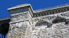 Detalle en la presa vieja del Croton Imagen de archivo libre de regalías