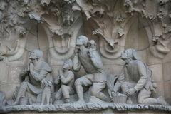 Detalle en Sagrada Familia Imagen de archivo