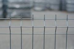 Detalle en una cerca del metal Imágenes de archivo libres de regalías