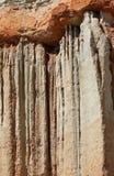 Detalle erosionado de la formación de roca Foto de archivo libre de regalías