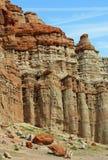 Detalle erosionado de la formación de roca Imagen de archivo libre de regalías