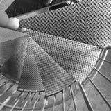 Detalle espiral de la escalera Imagen de archivo