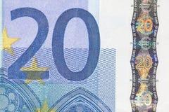 Detalle euro Fotos de archivo