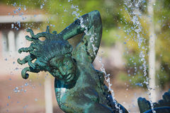 Detalle exterior de la escultura del escultor Carl Milles en jardín de la escultura de Millesgarden en Estocolmo, Suecia Fotografía de archivo