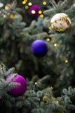 Detalle exterior del árbol de navidad foto de archivo libre de regalías