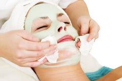 Detalle facial de la máscara Foto de archivo libre de regalías