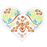 Detalle floral colorido del corazón stock de ilustración
