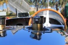 Detalle francés del tapón de relleno de combustible del coche de competición de los años 30 Imagen de archivo