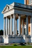 Detalle frontal de las columnas de Basilica di Superga, Turín Fotografía de archivo