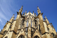 Detalle gótico de la iglesia Fotografía de archivo