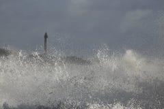 Detalle grande del chapoteo de la onda Imagen de archivo libre de regalías